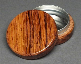 Wood and Steel Pill Box with Optional Spirograph Engraving