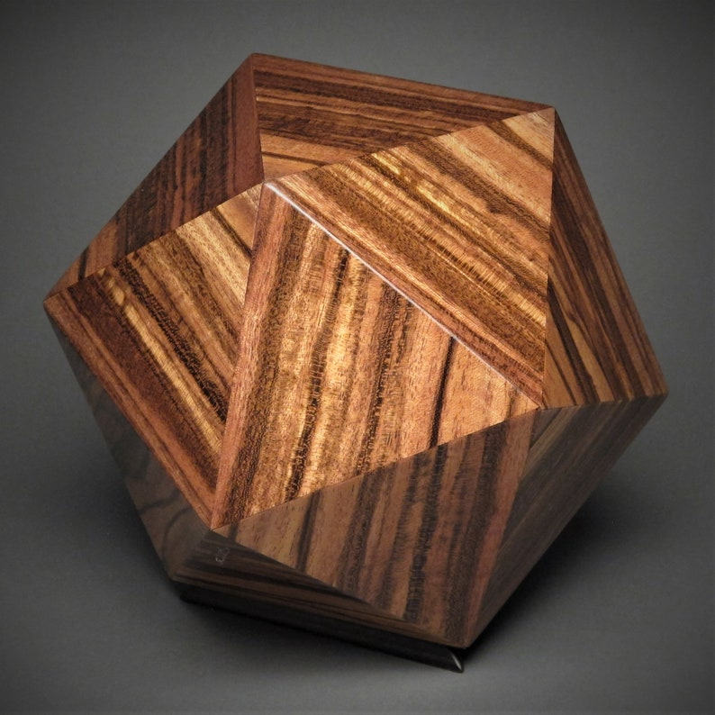 Exotic Wood Cremation Urn for a Small Human or Pet up to 125 Mora