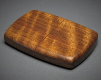 Personalized Wooden Wallet or Business Card Case made from Exotic Woods