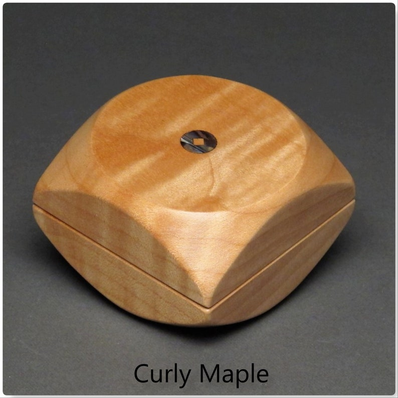 Small Wooden Ring and Keepsake Box with an Optional Foam Ring Curly Maple