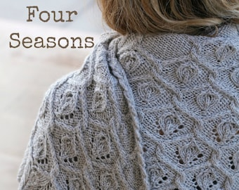 Pdf knitting pattern for large cabled shawl