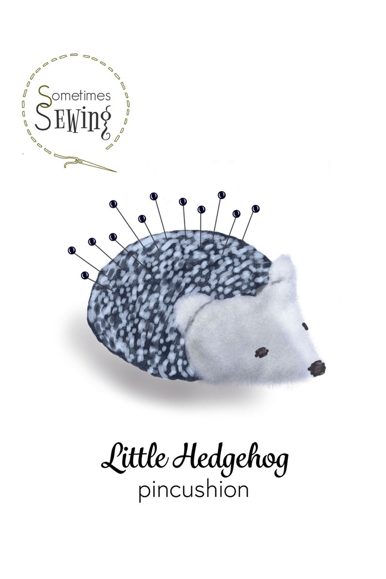 Little Hedgehog Pincushion Ready-to-Sew KIT Materials and Instructions