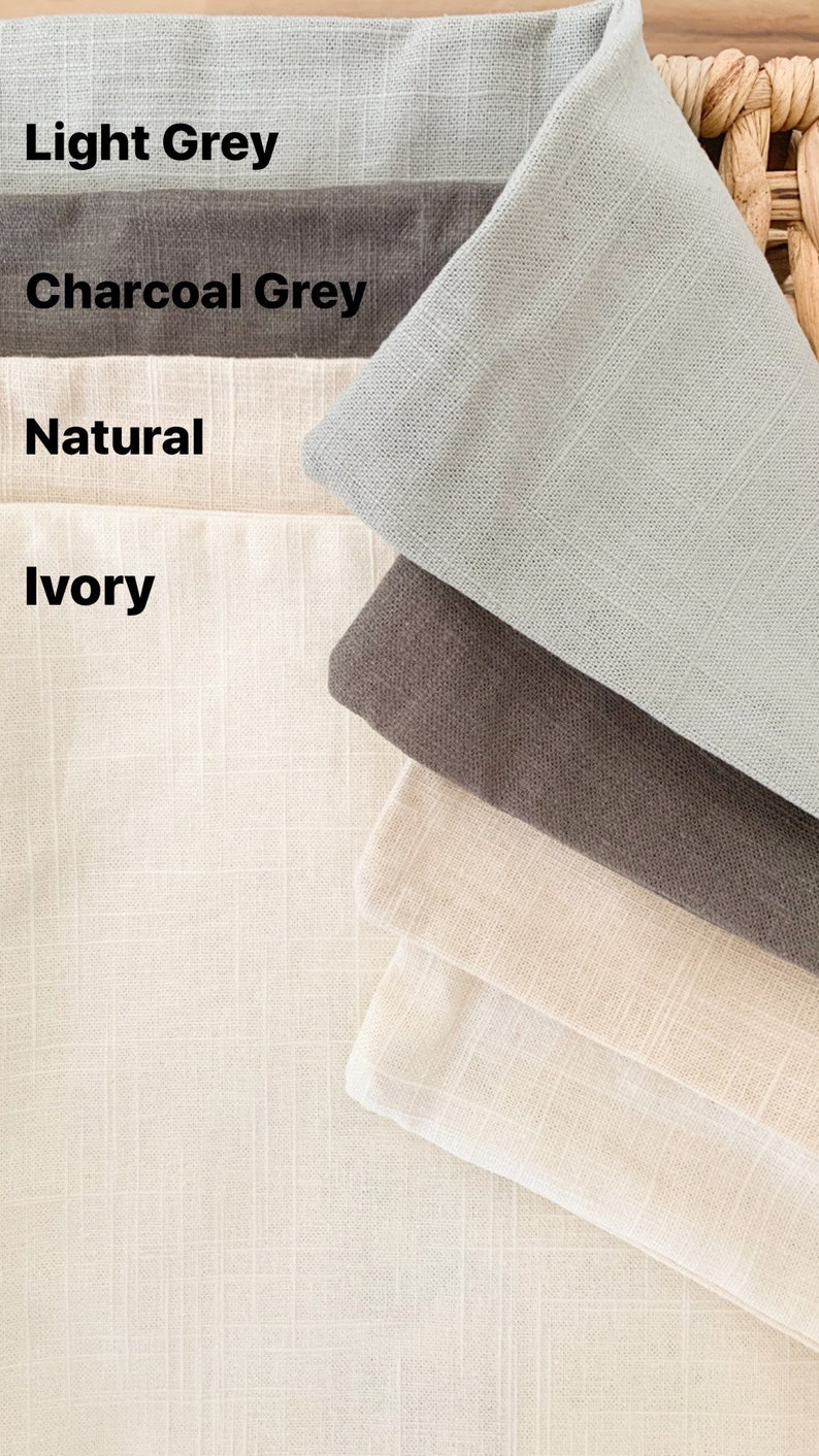 18x18 Ivory Colored Linen with Grey Ink Apr\u00e9s Pillow Cover