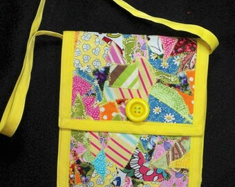 Handmade Patchwork Handbag in Yellow for the Little Princess in the Family