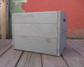 Pale Blue Canada Dry Wooden Crate. Rustic Country Cottage and Farm Chic. 2 Available.