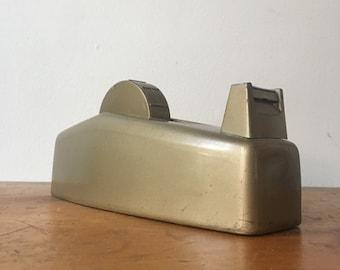 Vintage GOLD Scotch Brand Tape Dispenser for Wide Rolls. Model C-23