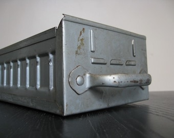 Industrial Chic.  Metal Equipto Drawer Perfect for Storage and Decor.