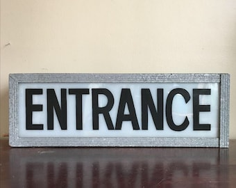 RESERVED. Industrial Entrance Sign with Light. Exterior Lighting
