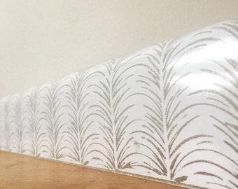 Vintage White Glass Long Light Cover.