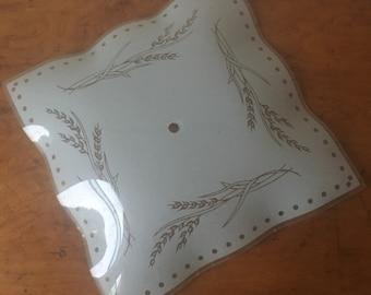 Vintage White Glass Ceiling Light Cover.