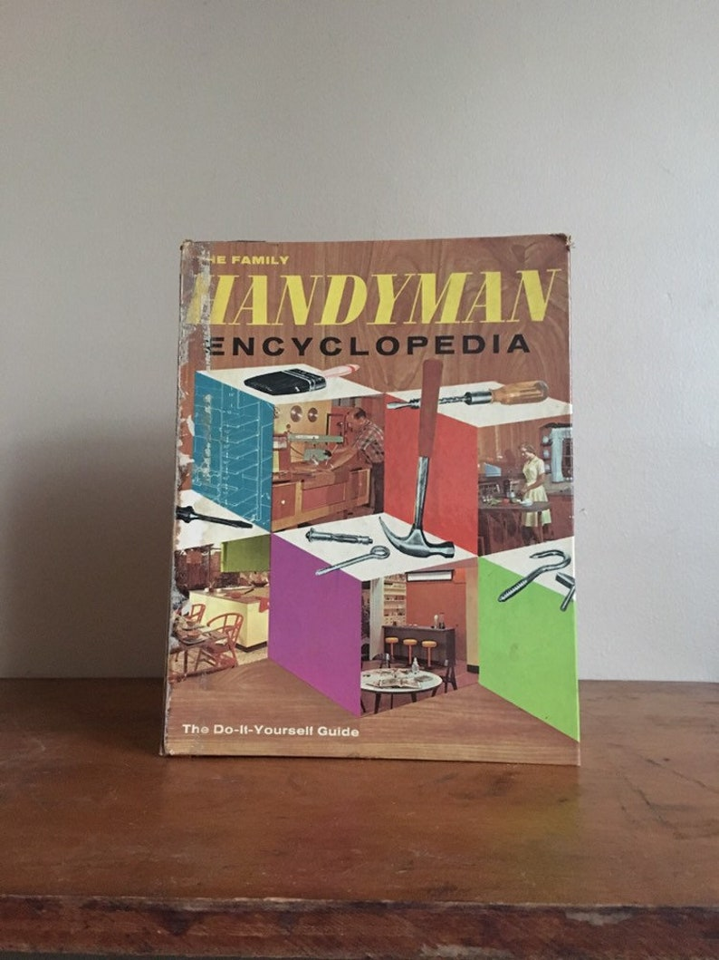 1962 / 1963 The Family Handyman Encyclopedia  1400+ Pages  Defintive Guide  to Early 1960s Home DIY