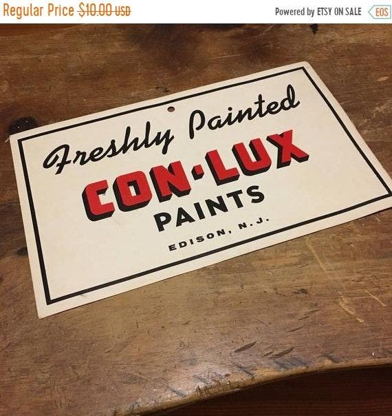 Vintage Con-Lux Painters Cap Conlux Advertisement Edison NJ