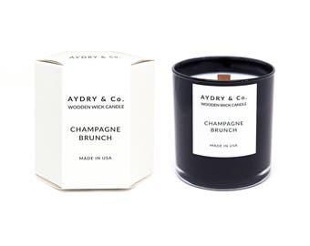 Champagne Brunch Wooden Wick Candle