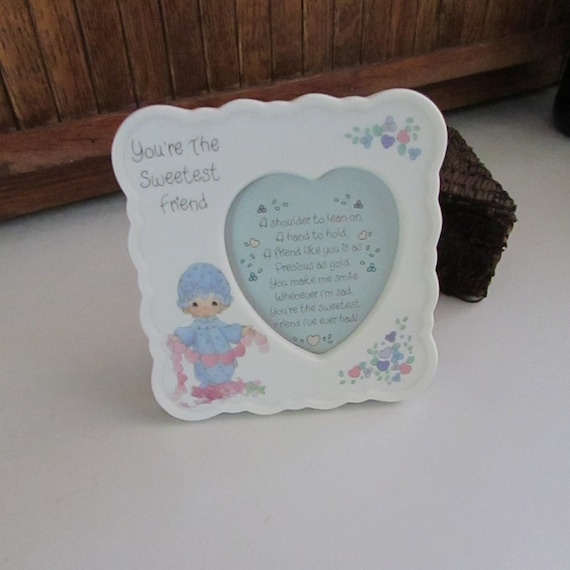 Precious Moments Picture Frame Youre The Sweetest Friend Etsy