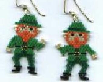 Little Dancing Leprechaun Earring Bead Pattern PATTERN ONLY