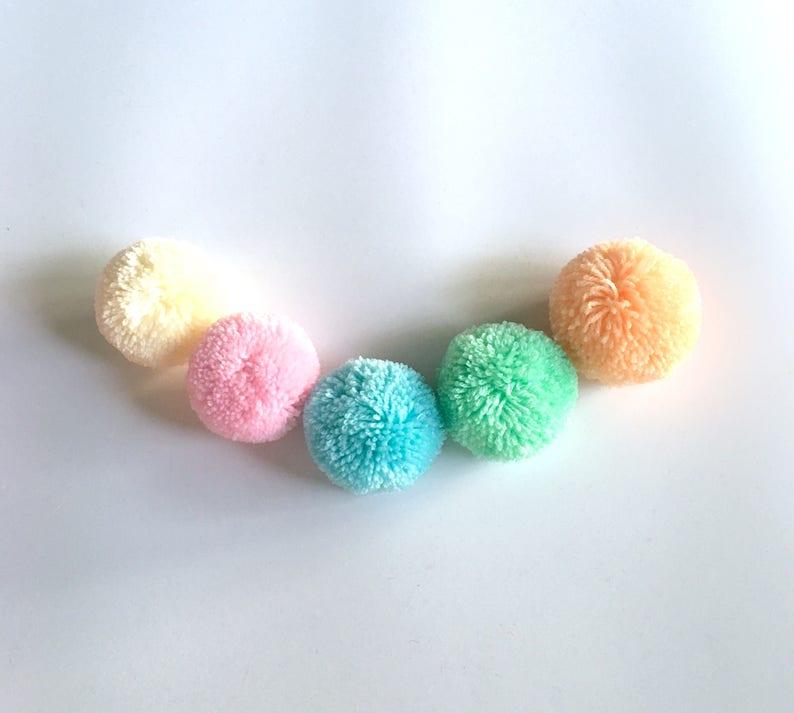 Boho Decor Party Supplies yarn pom pom Marigold Big Pom Pom 2 inches