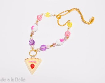 Sweet Cake Necklace with Gold and Pearl accents