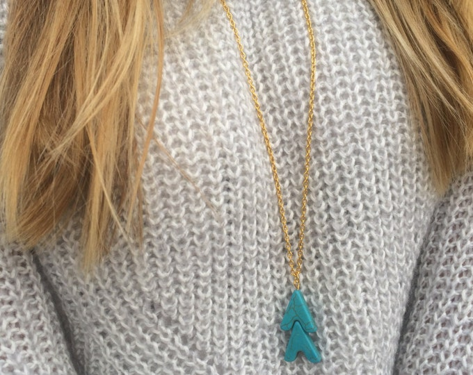 Turquoise Arrow Chain Necklace.