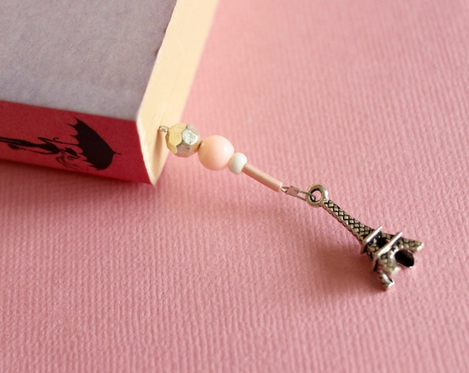 Paris I love you Beaded Bookmark/ Book Thong.