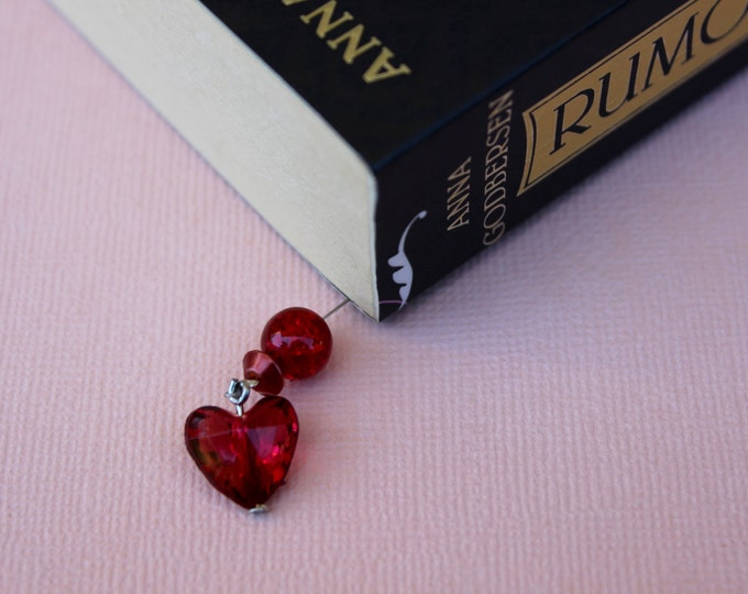 Love to read Beaded Bookmark/ Book Thong.
