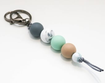 Bondi Silicone Beaded Sensory Key Chain.