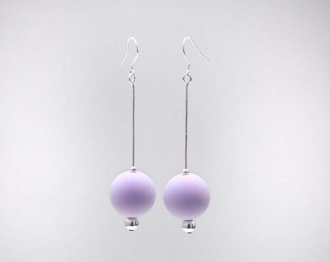 Lavender Purple Big Drop Earrings.