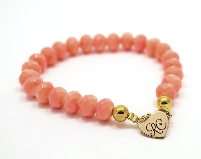 RC Signature Bracelet in Orange Coral.