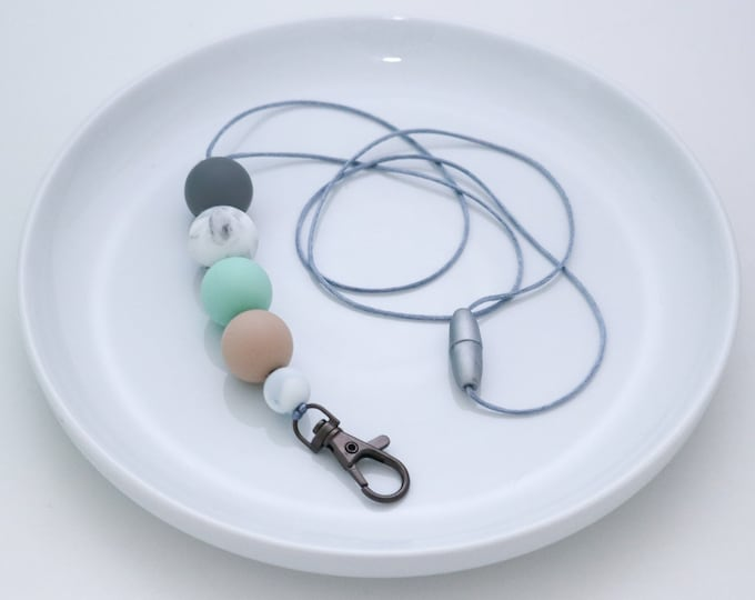 Silicone Beaded Lanyard | Teacher Gift | Bondi
