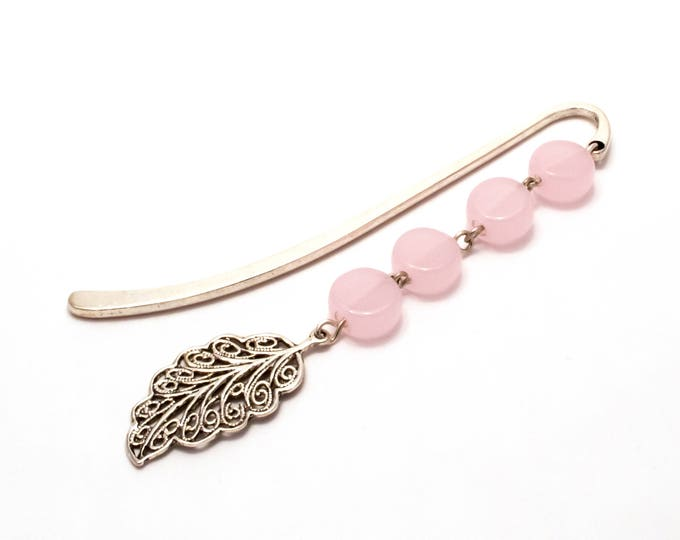 Mini Pastel Pink Leaf bookmark.
