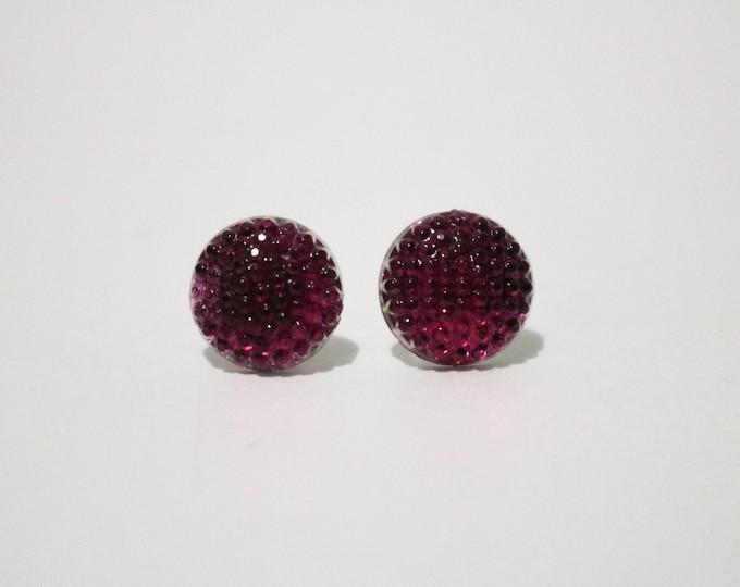 Berry bubble post stud earrings.