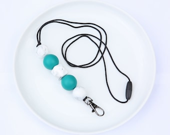 Silicone Beaded Lanyard | Teacher Gift | Serena Winter - Emerald