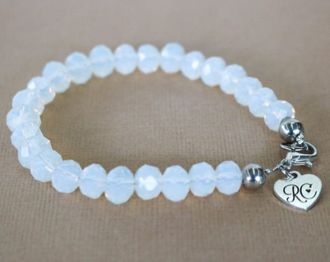 RC Signature Bracelet in Opalescent White.