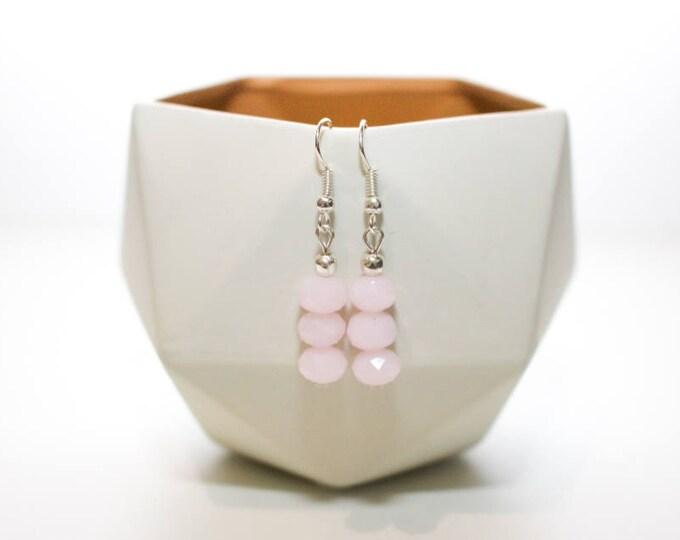 Baby Pink Drop Earrings.