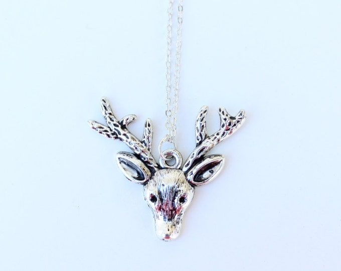 Oh Deer, Silver Reindeer Necklace.