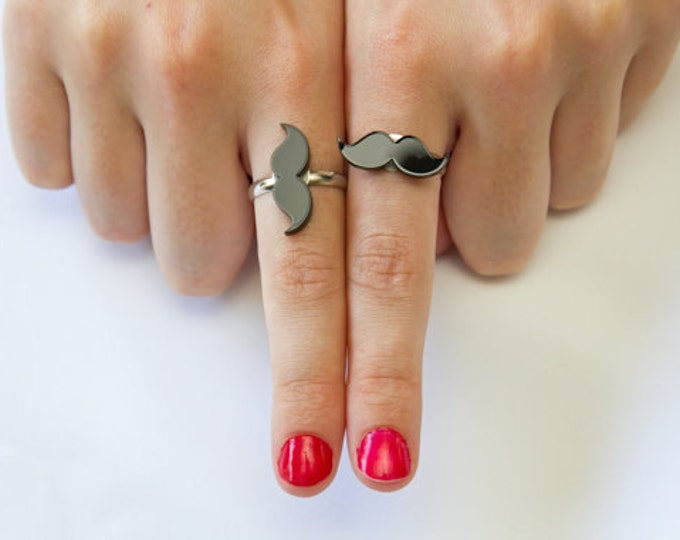 MOVEMBER Put your moustache on adjustable ring, Featured in Shop til you drop.