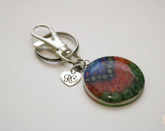 Millefiori Keyring/ Bag chain/ Key chain.
