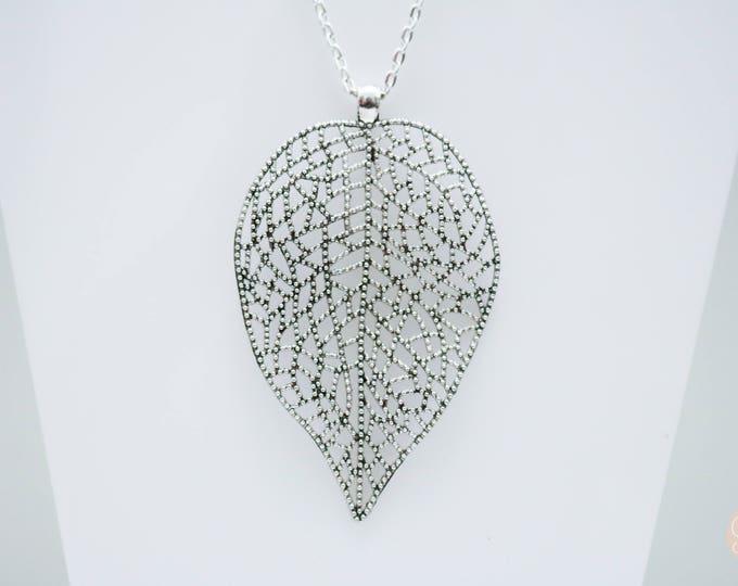 Giant leaf statement necklace.
