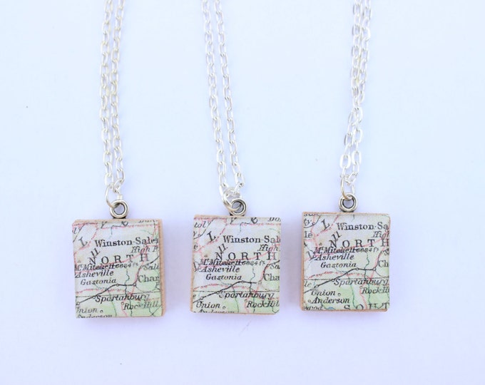 North Carolina Scrabble Tile Necklace