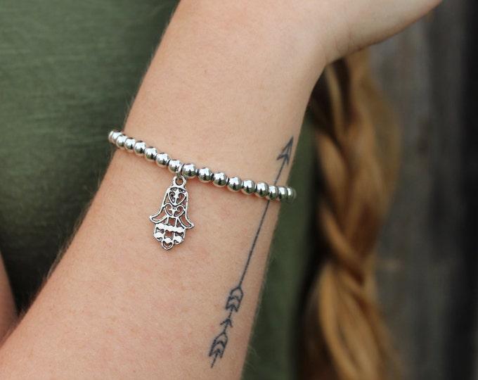 Hamsa Silver Bracelet