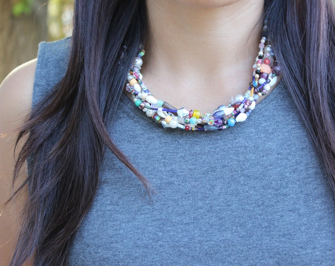 SALE Trash and Treasure Statement Necklace.