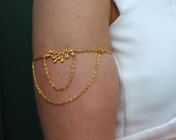 Cleopatra Golden Arm Chain.
