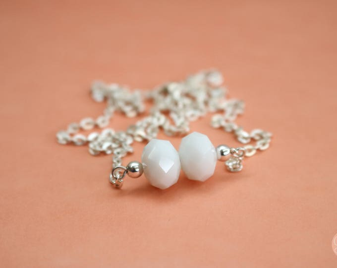 Snow White Bar Necklace.