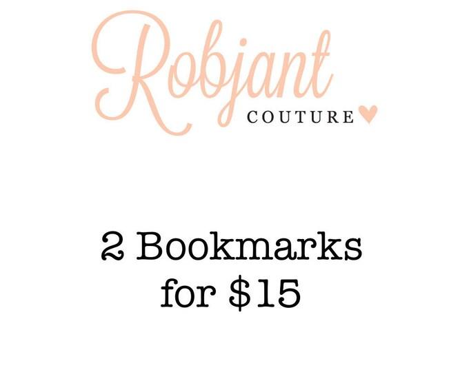 DEAL! 2 Beaded bookmarks /bookthongs.