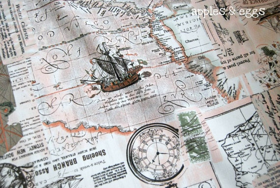 Items Similar To Texas Antique Map: Items Similar To Vintage Nautical Map In Peach Pink