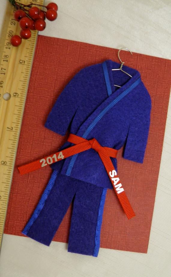 martial arts ornament choose belt color personalized etsy