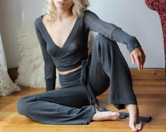 sheer pajama set with ruffle details RUFFLES made to order