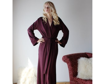 Long heavy weight bamboo robe for women c4399bd12