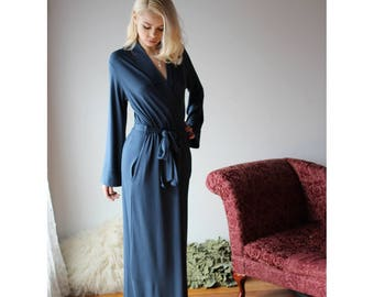 4741efcc19 long bamboo robe with side pockets - NOUVEAU bamboo sleepwear range - made  to order