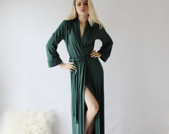 3bf3697e9fb womens long bamboo robe - made to order - ICON sleepwear and lingerie range