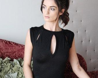 a-line sweater dress with keyhole neckline - wool blend womens lounge wear lingerie and sleepwear range - MALLARD - made to order